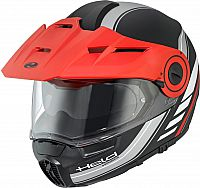 Held by Schuberth H-E1 Adventure Dekor, flip up helmet
