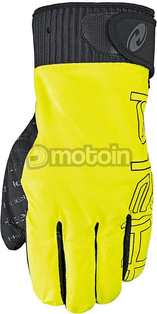 Fluo Yellow Motorrad Motorcycle Over Gloves All Sizes Held Rain Skin Pro Black