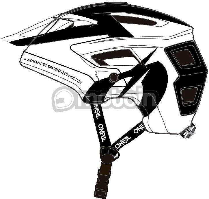 M Negro Oneal SONUS Strike Casco Bicicleta