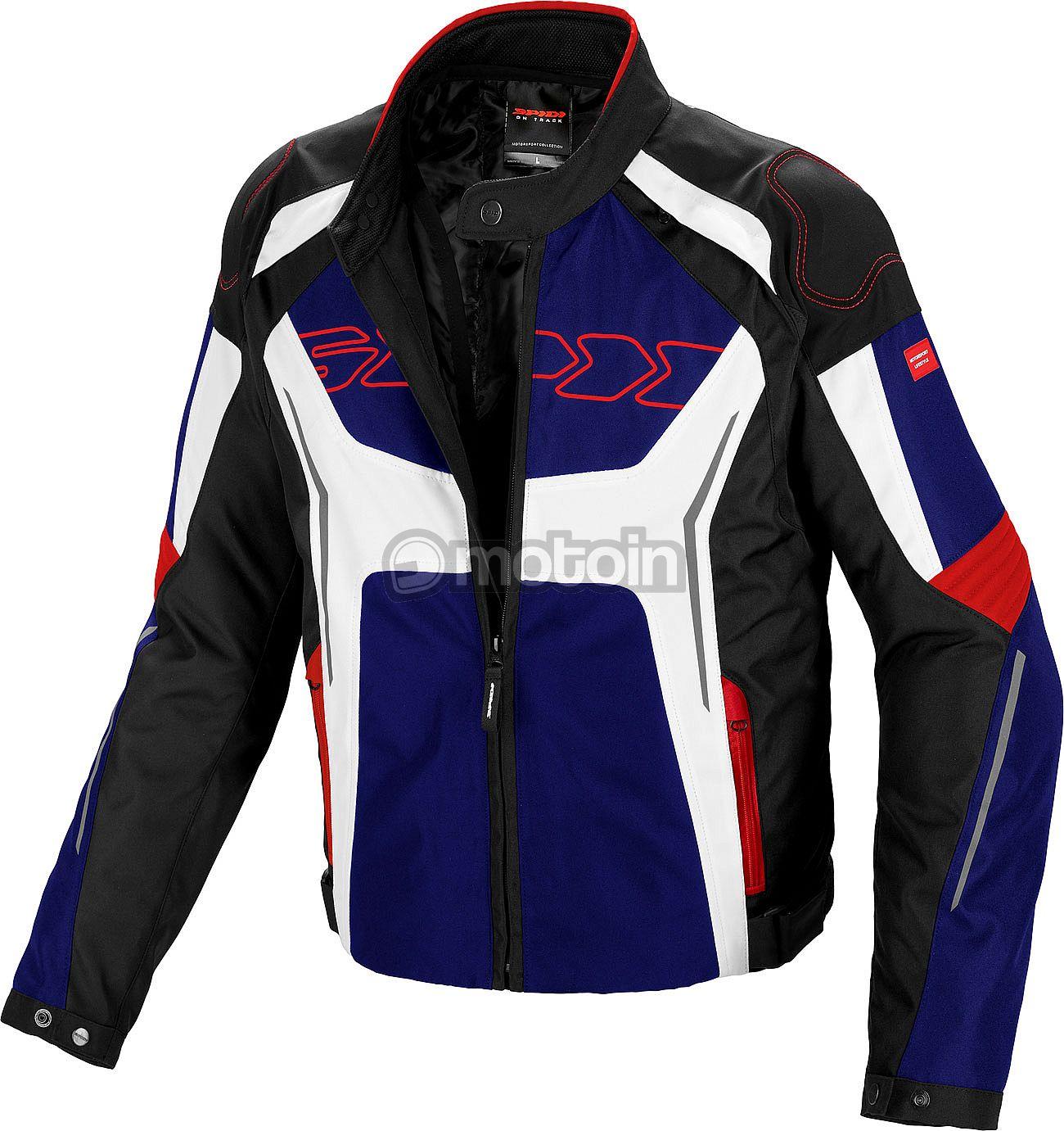 L Noir Spidi Armor Veste Textile a Capuche